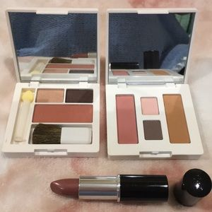 Clinique Lancome Bundle, 2 Eyeshadow, 1 lipstick